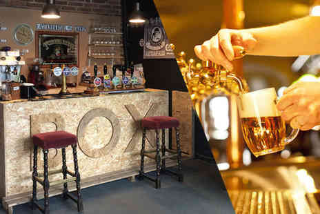 The Box Social Bar - Tutored beer tasting for two people with five ⅓ pints each - Save 50%