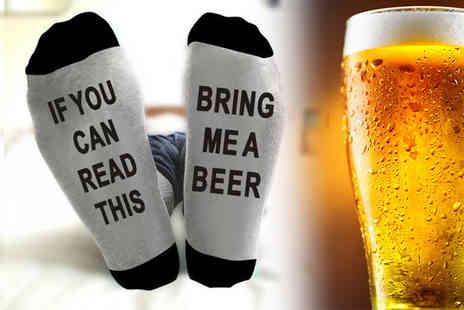 Black Feather - Pair of bring me a beer socks - Save 85%