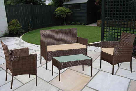 Bells Bay - 4pc rattan outdoor furniture set - Save 80%