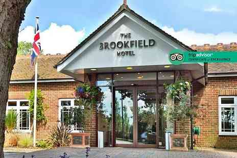 Brookfield Hotel - Overnight Hampshire stay for two with one two course dinner each, one glass of Prosecco each, breakfast and late check out - Save 59%