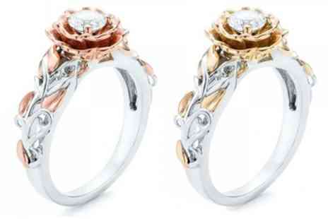 Groupon Goods Global GmbH - One or Two Rose Rings with Crystals from Swarovski - Save 97%