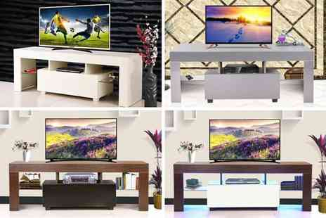 Bells Bay - Gloss Tv cabinet stand choose from three designs - Save 71%