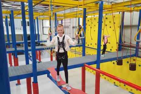Harness Adventure Indoor High Ropes - 45 Minute High Ropes Adventure with Drink for Up to Six - Save 47%