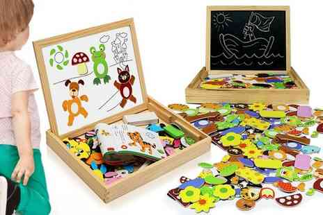 Ckent - Multi functional magnetic animal puzzle drawing board - Save 83%