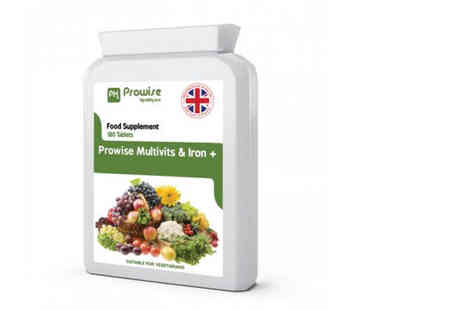 Prowise - Six month supply of multivits and iron Plus supplements - Save 78%
