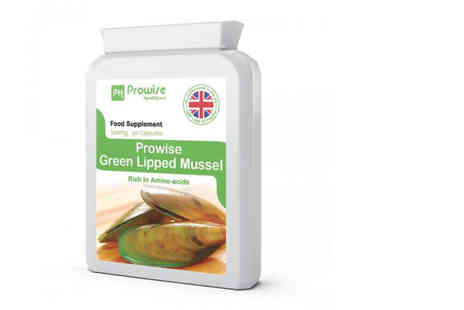 Prowise - One month supply of green lipped mussel supplements - Save 70%