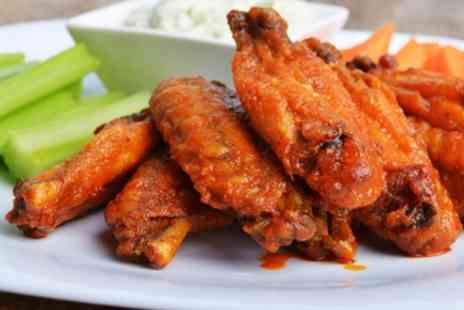 Grillicious Bolton - Hot Dog or Fried Chicken Wings with Chips and Drink for Two or Four - Save 29%