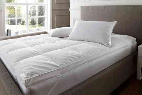 Groupon Goods Global GmbH - Mattress Topper and Goose Feather and Down Pillows - Save 78%