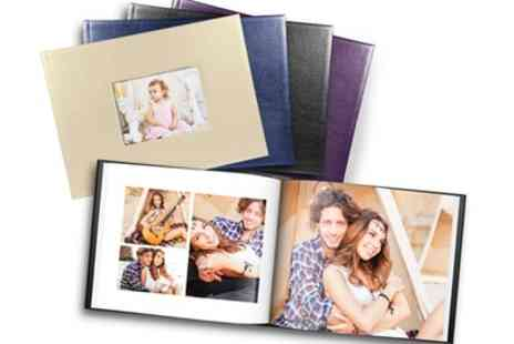 Printerpix - One or Two 20, 40 or 60 Page A4 or 20cm x 20cm Leather Window Photobooks from Printerpix - Save 75%