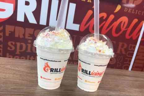 Grillicious Bolton - Milkshakes for Two or Four - Save 34%