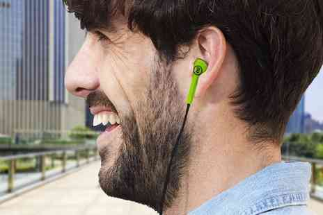 Ckent - Skull Candy offset earphones available in green or pink - Save 77%