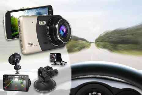 Maxwe - Next Generation Hd front and rear dash cam or dashcam with 16Gb Sd card - Save 72%