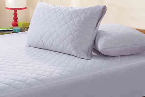 Best mall ever - Quilted Zipped Pillow Protectors Choose from a pack of 4 or 8 - Save 74%