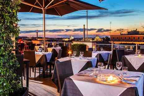 La Griffe Roma - Rooftop City Views from a Charming Design Hotel for two - Save 80%