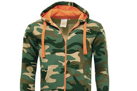 Morag Online - Unisex Camouflage Zipup Onesie Choose from 5 Sizes - Save 54%