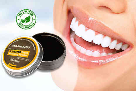 Forever Cosmetics - 50g mint orange activated charcoal teeth whitening powder - Save 87%