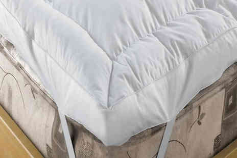 Direct Warehouse - 12.5cm Duck Feather and Down Mattress Topper Five Sizes - Save 85%