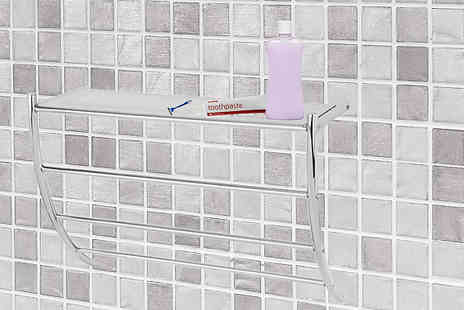 Fusion - Wall Mounted Bathroom Rack And Towel Holder - Save 68%