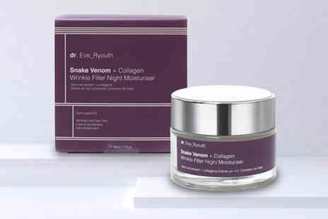 Dr Ever Youth - Snake venom and collagen wrinkle fill night moisturiser - Save 77%