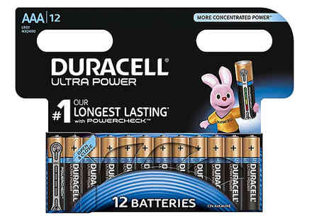 Mspackaging - Duracell Ultra Power AA or AAA Batteries Choose 12, 24, 48 or 60 - Save 50%