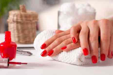 True Beauty by Cara - Gel Manicure, Pedicure or Both with Mini Massage - Save 50%