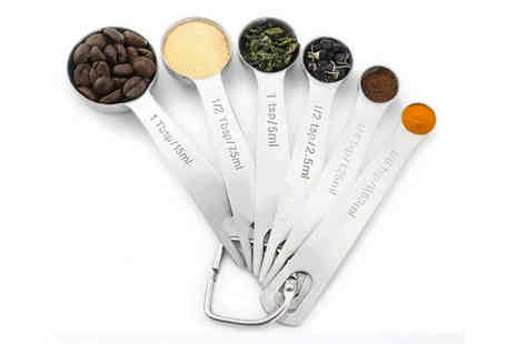 Domo Secret - Set of six stainless steel measuring spoons - Save 70%