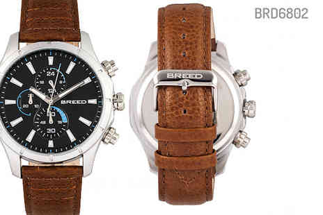 Ideal Deal - Luxury Lacroix Chronograph Genuine Leather Watch Choose Five Designs - Save 88%