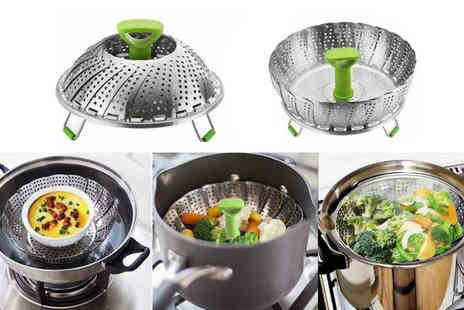 Domo Secret - Stainless steel collapsible steamer - Save 67%