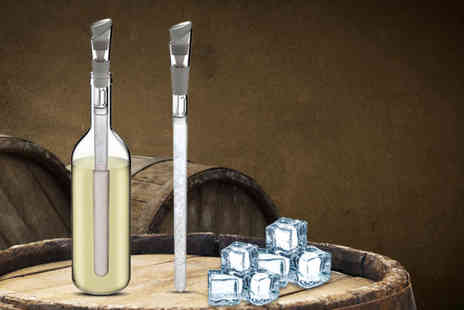 Snap One Up - Two icicle wine chiller and pourers - Save 82%