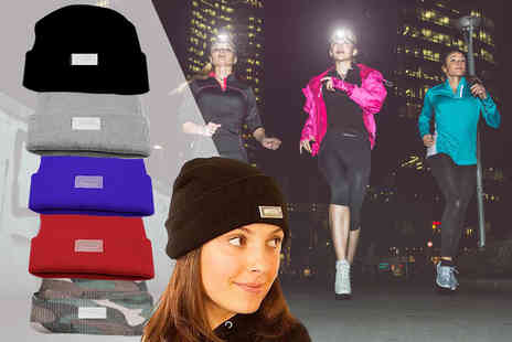 Snap One Up - Womens led beanie hat choose from five colours - Save 83%