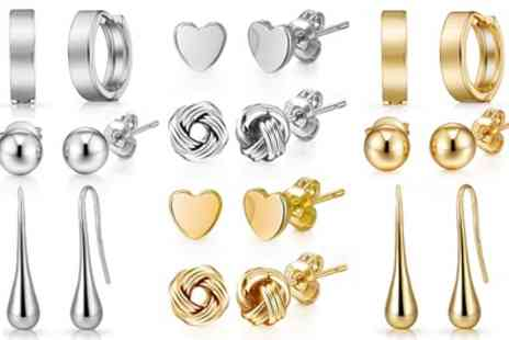 Groupon Goods Global GmbH - Up to Ten Pairs of Philip Jones Earrings - Save 0%