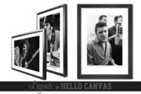 Hello Canvas - Large Limited Edition Legend Canvas Print in Floating Frame Including Delivery from £79 (Up to 53% Off) - Save 53%