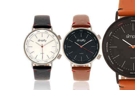 Simplify Watches - Simplify 3300 unisex watch choose from six designs - Save 0%