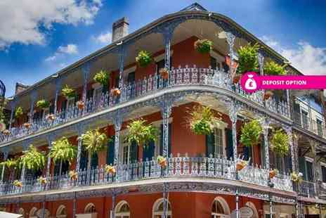 Holiday Direction - Six nights Memphis and New Orleans holiday with an internal train transfer, Memphis Music Attraction Pass and return flights - Save 0%
