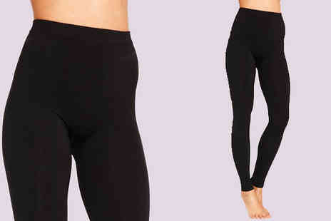 Nothing New 2 Wear - Four Pack of Thermal Black Fleece Lined Leggings - Save 80%