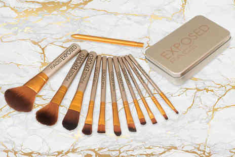 Face London - 12pc makeup brush set - Save 88%