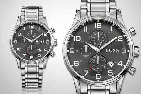 Direct E Trade - We think its about time you check out this mens Hugo Boss Aeroliner chronograph watch - Save 69%
