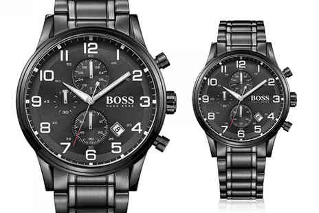 Direct E Trade - Tick tock This black chronograph Hugo Boss Aeroliner watch deal wont be around forever - Save 69%