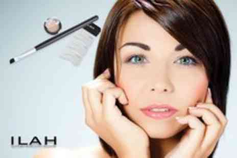 Ilah Brows - Semi permanent brow kit including 3 stencils, powder and angled brush - Save 53%
