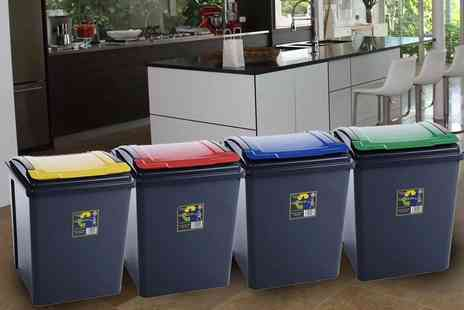 Ckent - 25L recycling bin or a 50L recycling bin Available in red, green, blue or yellow - Save 54%