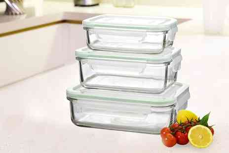 Groupon Goods Global GmbH - Glasslock Tempered Glass Food Container Set - Save 57%