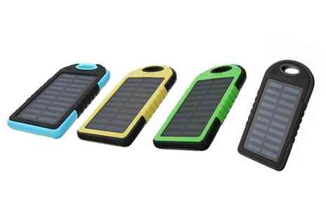 Electronic Store - 5000 mah solar phone charging powerbank choose from four colours - Save 60%