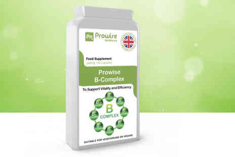 Prowise - Four mouths supply of vitamin B complex capsules - Save 0%