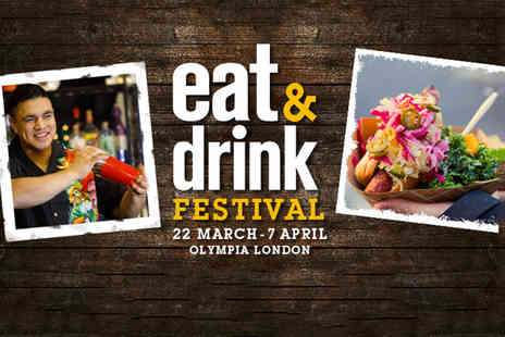 Media 10 - Two weekday tickets to the Eat and Drink Festival choose from 16 dates - Save 53%