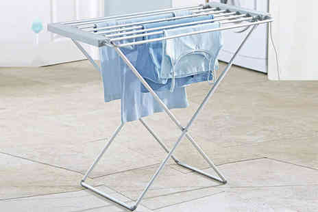 Groundlevel - Self heating clothes airer - Save 78%