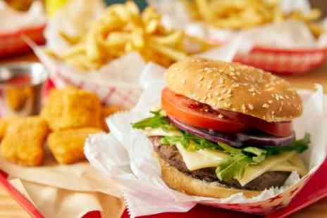 Nass Fast Foods - 6oz Burger Meal with Drinks for Two or Four - Save 33%