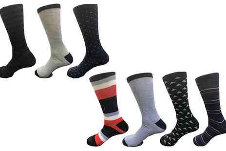 Groupon Goods Global GmbH - Seven Pack of 600W Chicago Mens Assorted Socks - Save 0%