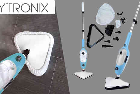 Direct Vacuums - Vytronix Ten in One Handheld Upright High Powered Steam Mop - Save 69%