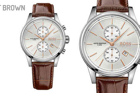 AW Watches - Mens Chronograph Hugo Boss Watches Choose Two Designs - Save 60%