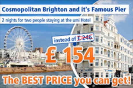 Umi Hotel - Surprise yourself in Brighton for 3  days stay for 2 - Save 37%
